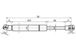 MAPCO 20958 Ammortizzatore pneumatico, Cofano motore