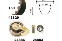 MAPCO 23831 Kit Distribuzione